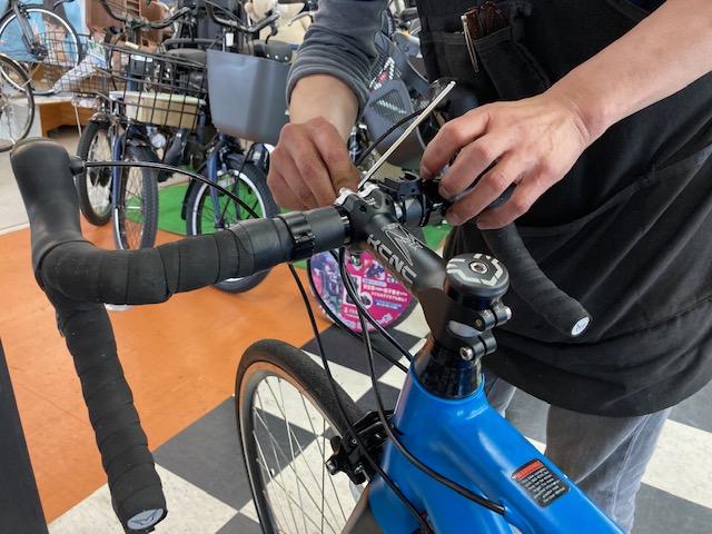 ロードバイクステム交換