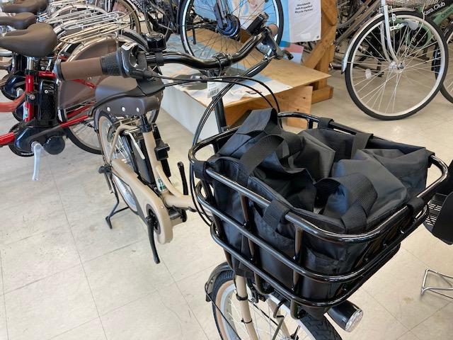 電動アシスト自転車かご